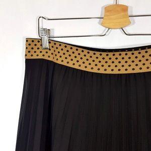 Metro Wear Accordion Pleated Black Skirt Size XL